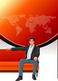 Mężczyzna na kanapie Obraz Royalty Free