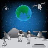 Mężczyzna na księżyc Ilustracja Wektor