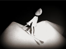 Mężczyzna na księżyc, sen śnieg Obraz Stock