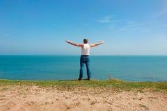 Mężczyzna na plaży Fotografia Stock