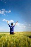 Mężczyzna na polu. Fotografia Stock