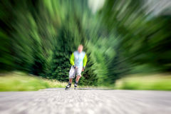 Mężczyzna na rolkowych łyżwach Zdjęcie Stock
