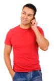 Mężczyzna na telefonie Obraz Stock