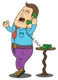 Mężczyzna na Telefonie ilustracji