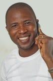 Mężczyzna na telefonie Obrazy Royalty Free
