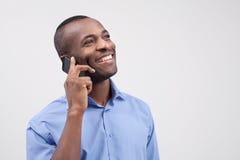 Mężczyzna na telefonie. Fotografia Stock