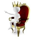 Mężczyzna na tronie ilustracji