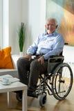Mężczyzna na wózku inwalidzkim Zdjęcia Royalty Free
