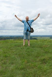 Mężczyzna na wzgórzu Zdjęcie Stock