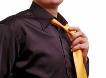 mężczyzna naciąg krawat Obrazy Stock