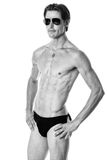 mężczyzna nad strzału pracownianym swimwear biel Obraz Royalty Free