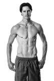 mężczyzna nad strzału pracownianym swimwear biel Fotografia Royalty Free