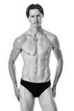 mężczyzna nad strzału pracownianym swimwear biel Obrazy Royalty Free