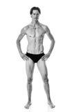 mężczyzna nad strzału pracownianym swimwear biel Obrazy Stock