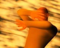 Mężczyzna nakrycia twarz z rękami od Palić Stardust ilustracji