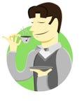 Mężczyzna napój filiżanka herbata Zdjęcie Stock