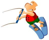 mężczyzna narciarstwa woda Zdjęcie Stock