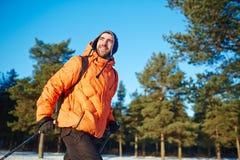 Mężczyzna narciarstwo Fotografia Royalty Free