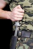 mężczyzna nożowy sheath zdjęcia stock