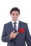 Mężczyzna no kocha kwiaty Zdjęcie Stock
