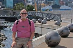 mężczyzna nowy starszy Wellington Zealand Zdjęcia Stock