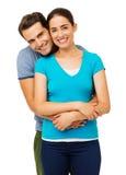 Mężczyzna obejmowania kobieta Od Behind Zdjęcie Stock