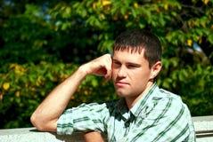 mężczyzna obrazka główkowanie Fotografia Royalty Free