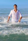 mężczyzna ocean Fotografia Royalty Free