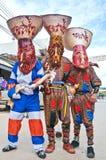 mężczyzna odzieży ducha kostiumy przy ducha festiwalem Obrazy Royalty Free