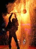 Mężczyzna ogień fotografia royalty free