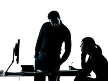Mężczyzna ojca nauczyciela dziewczyny nastolatka studencka praca domowa Zdjęcia Stock