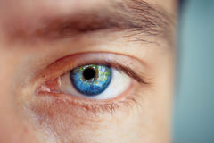 Mężczyzna oko Fotografia Royalty Free