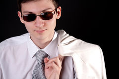 mężczyzna okularów przeciwsłoneczne un potomstwa Fotografia Royalty Free