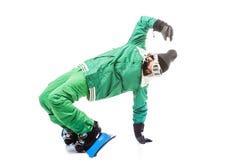 Mężczyzna ono ślizga się na snowboard Obraz Stock