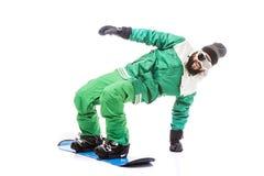 Mężczyzna ono ślizga się na snowboard Obrazy Royalty Free
