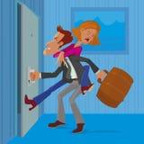 Mężczyzna opuszcza jego żony Obrazy Stock
