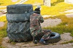 mężczyzna paintballs Fotografia Stock