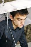 mężczyzna parasol Zdjęcia Royalty Free
