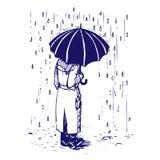 mężczyzna parasol Zdjęcie Royalty Free