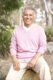 mężczyzna parkowy portreta senior Fotografia Stock