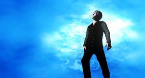 Mężczyzna patrzeje w kierunku nieba Fotografia Stock