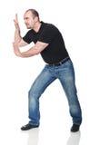 mężczyzna pchnięcie Zdjęcia Stock
