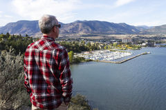 Mężczyzna Penticton Okanagan dolina Zdjęcia Royalty Free