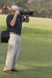 Mężczyzna photografer działanie Zdjęcia Royalty Free