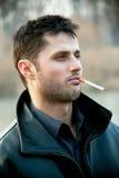 mężczyzna piękni dymy Obraz Stock