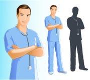 mężczyzna pielęgniarka royalty ilustracja
