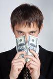 mężczyzna pieniądze Obraz Royalty Free