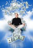 mężczyzna pieniądze Obrazy Royalty Free