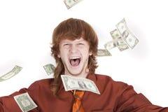 mężczyzna pieniądze miotanie zdjęcia royalty free