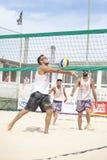 Mężczyzna plażowej siatkówki gracze Włoski krajowy mistrzostwo obraz stock